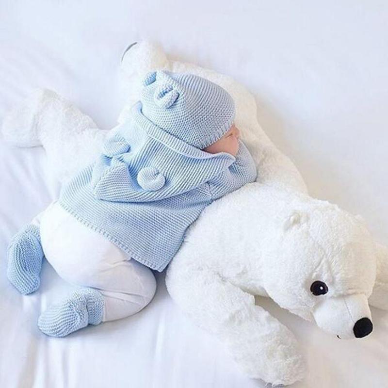 Newborn Baby Pillow Polar Bear Animal