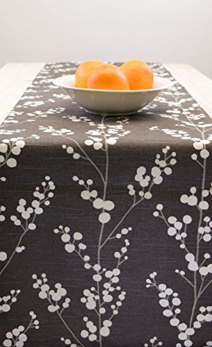 Amazon Com Table Runner Grey Grey Table Runner Fall Thanksgiving Table Runner Floral 60 Inc Thanksgiving Table Runner Fall Table Runners Floral Table Runner