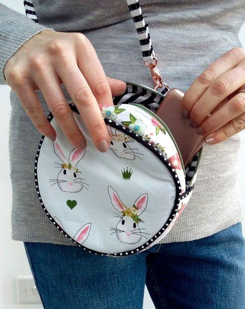 Cute Round Bag Pattern Ideas | Taschen nähen, Nähen und Ideen