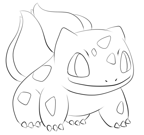 Bulbasaur Coloring Page From Generation I Pokemon Category