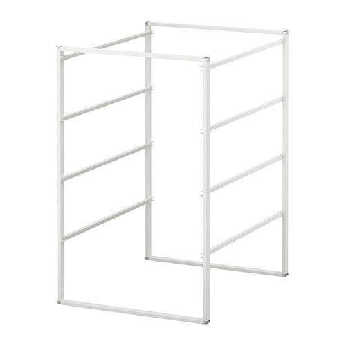 ANTONIUS Rám IKEA Nastaviteľné nožičky; stoja pevne na nerovných podlahách. Možnosť nadstavenia do výšky, svorky sú súčasťou balenia.