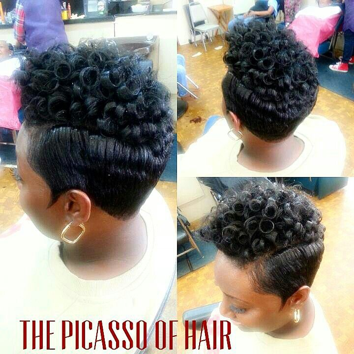 The Picasso of hair Chicago | Hot hair styles, Short hair ...