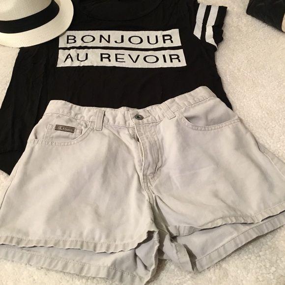 CK vintage khaki shorts | Shorts, D and Calvin klein