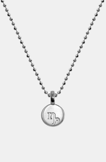 Alex Woo 'Mini Addition' Zodiac Sign Pendant available at #Nordstrom