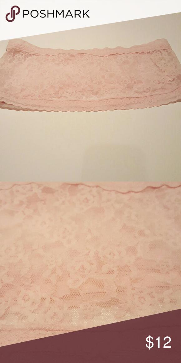 Bandeau Victoria Secret Sexy Lace NWT Bandeau Victoria Secret//Baby Pastel Pink// Super Feminine Lace Victoria's Secret Intimates & Sleepwear Bandeaus