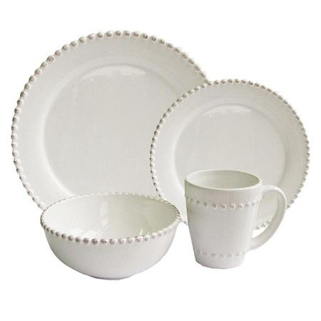 I pinned this 16 Piece Bianca Dinnerware Set in White from the Olson & Eaves event at Joss and Main!