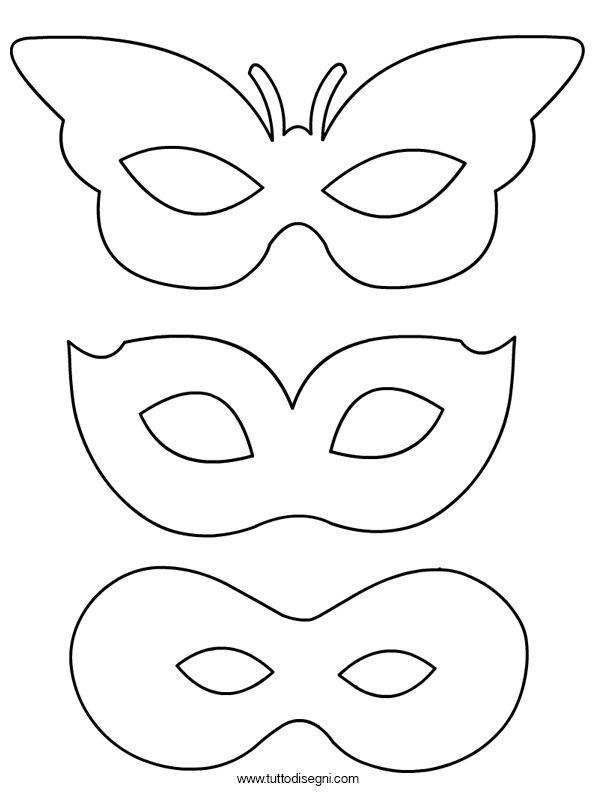 Maschere Carnevale Da Colorare Per Bambini.Lavoretti Carnevale Maschere Da Colorare Tuttodisegni