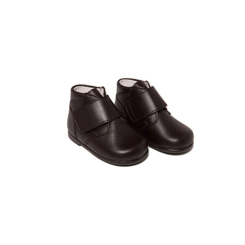 Safari Nappa Leather Velcro Boots In Chocolate