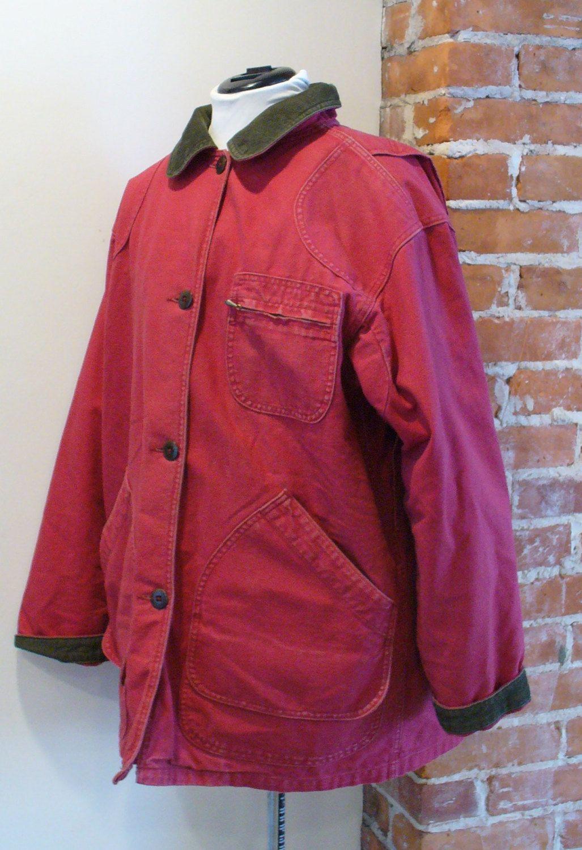 Vintage L.L. Bean Red Ladies Barn Jacket by TheOldBagOnline on ...