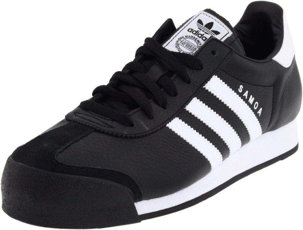NEW ADIDAS SAMOA Originals MENS 10.5 Black White Vintage Rom  #adidas #Athletic