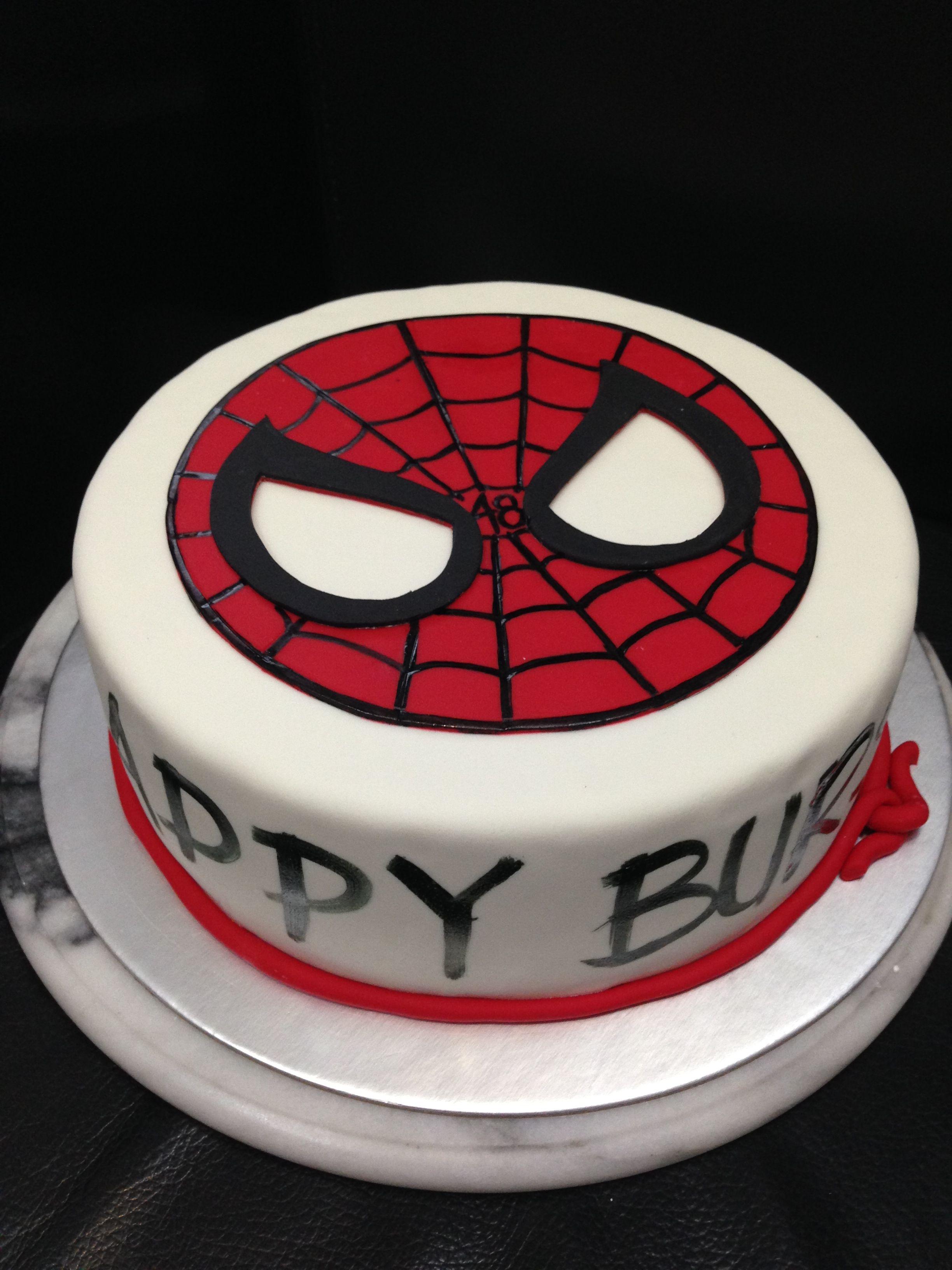 Spiderman Birthday Cake Spiderman Mask Cake Birthday Cake Singapore