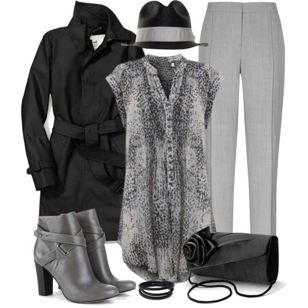 Black & Gray, created by smylin on Polyvore