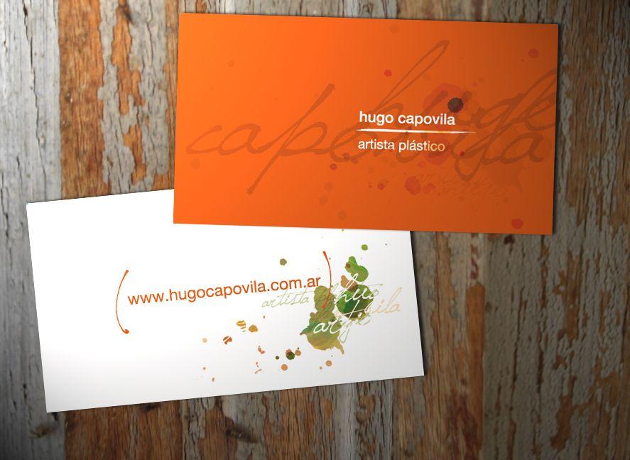 Tarjetas personales para el artista plástico Hugo Capovila.