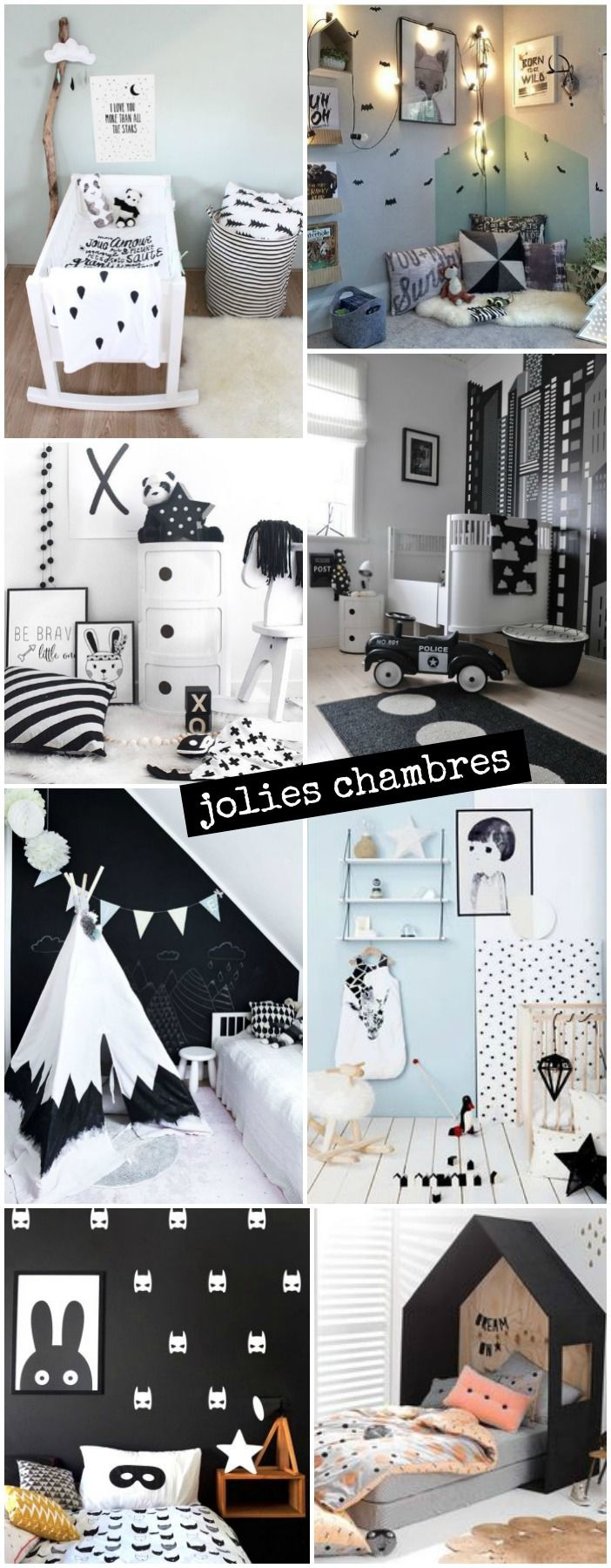 Sac à jouet style scandinave noir blanc pour une décoration de ...