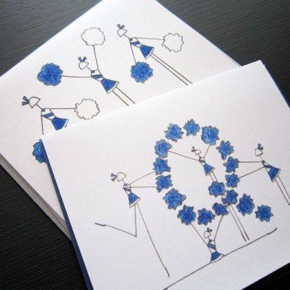 QHS Pommers Stationery, Set of 8 Blank Notecards- LOinLONDON® fine paper goods + whimsical design | www.loinlondon.com