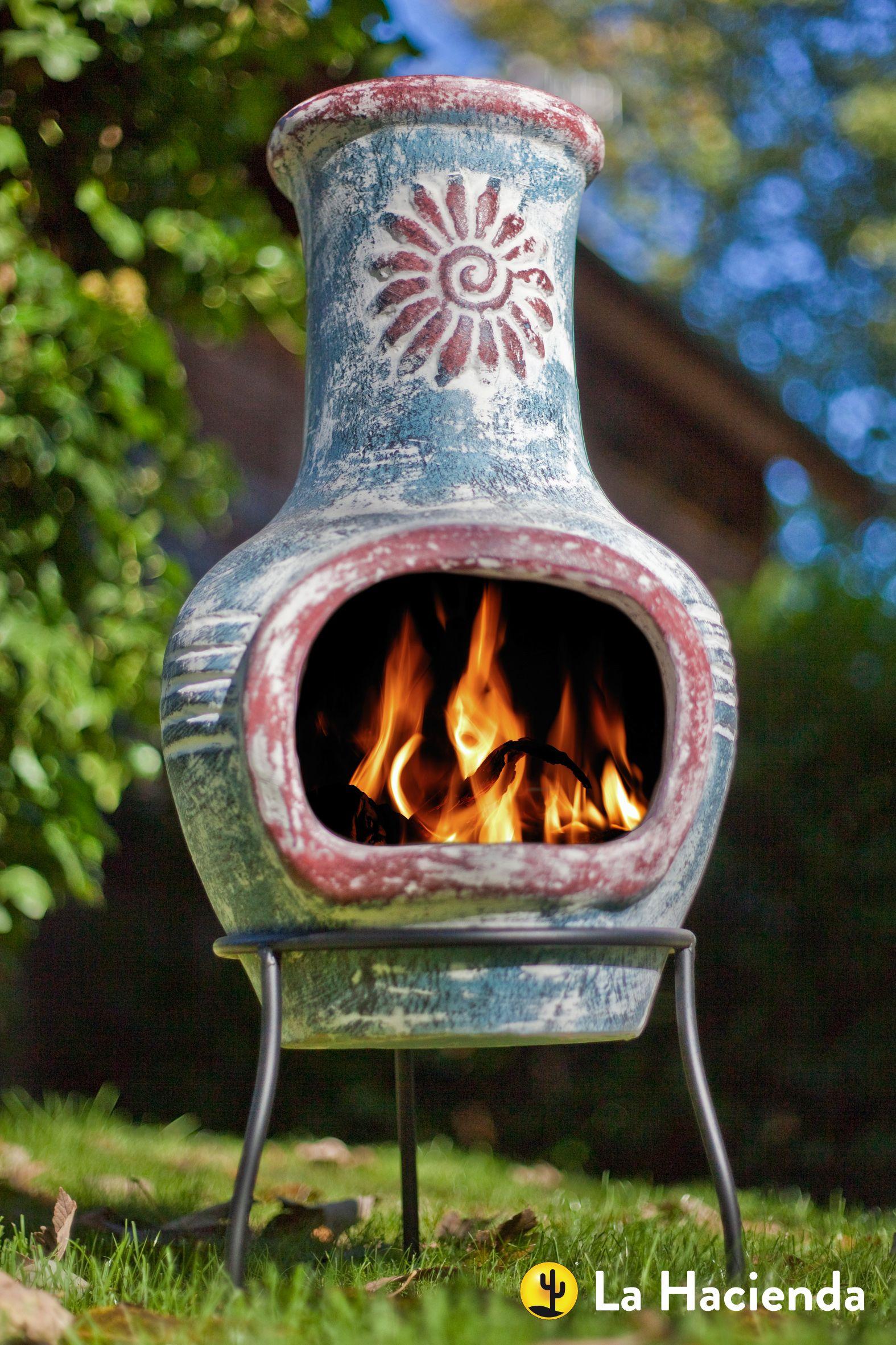 La Hacienda Wood Burning Chimeneas Firepits Outdoor Heating Uk Clay Chiminea Hacienda Outdoor Heating