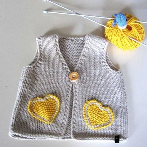 fb7bc7aac Knitting Baby Vest Knit baby vest
