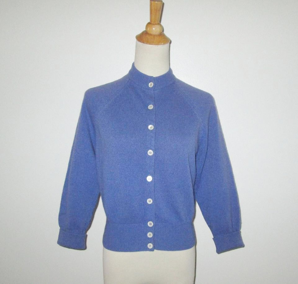 Vintage 1950s Periwinkle Blue Sweater - Size M by SayItWithVintage ...