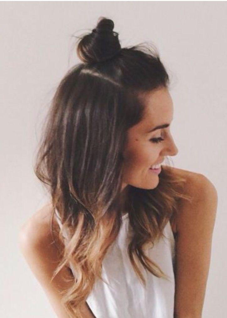 14 Simple Hair Bun Tutorial To Keep You Look Chic In Lazy Days Hair Styles Long Hair Styles Hair Bun Tutorial