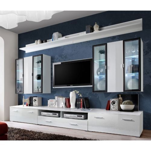 Long Tv Unit Modern Wall Units TV Cabinets White High Gloss UnitsLiving Room