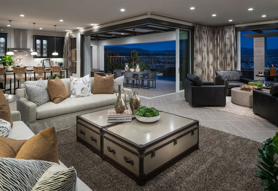 Spacious Open Living Spaces Shown Here In The Rosana Model Create A Perfect Environment For Entertaining New Homes For Sale Luxury Homes Open Space Living