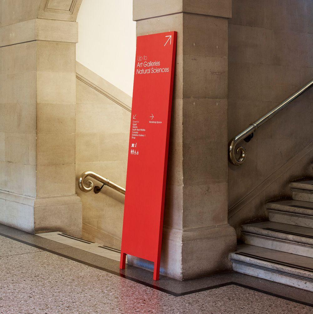 Leaning boards bristol museum u art gallery signage pinterest