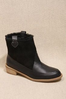 F Troupe Black Sheepskin Boots
