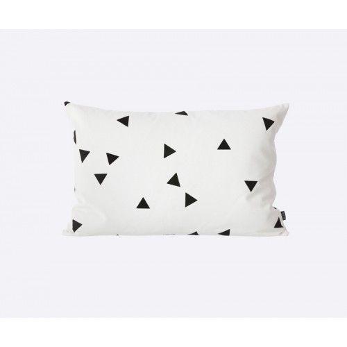 Triangle cojín blanco-negro