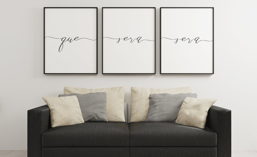 QUE SERA SERA Set Of 3 Prints My Home Is Your HomeHome | Etsy