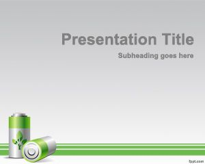 Free green energy powerpoint template with battery a4 green free green energy powerpoint template with battery a4 toneelgroepblik Gallery