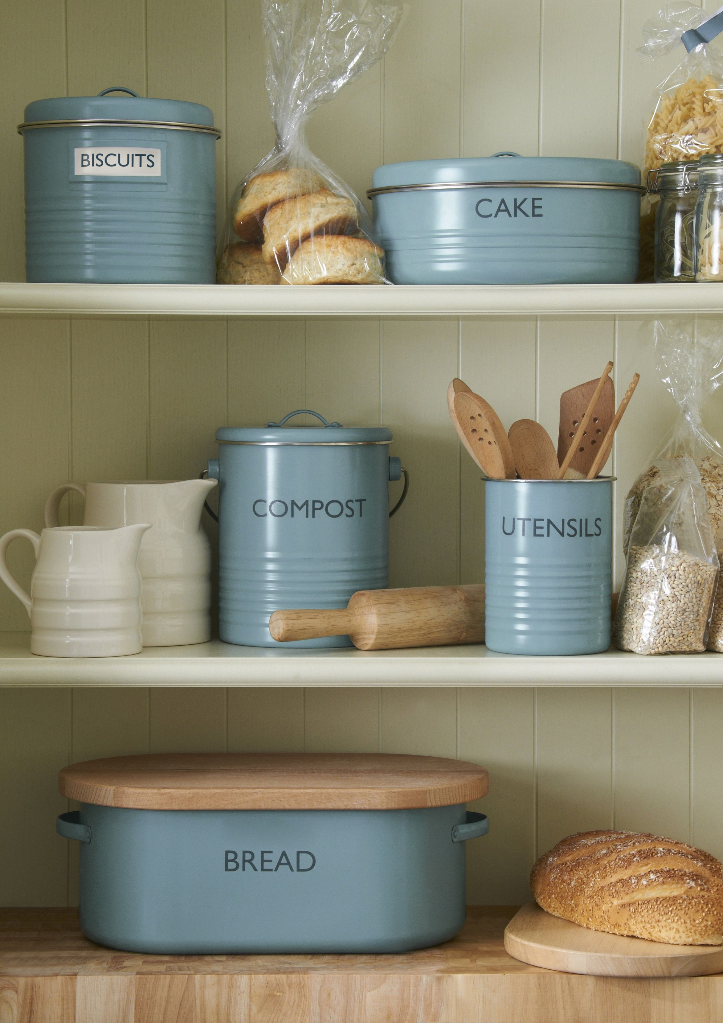 typhoon blue retro vintage enamel containers | Zakka Kitchen and ...