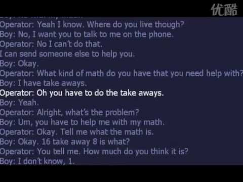 kid call 911 for help with math. This is adorable