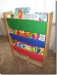 Lookie What She Made Sling Bookshelf From Shoe Rack