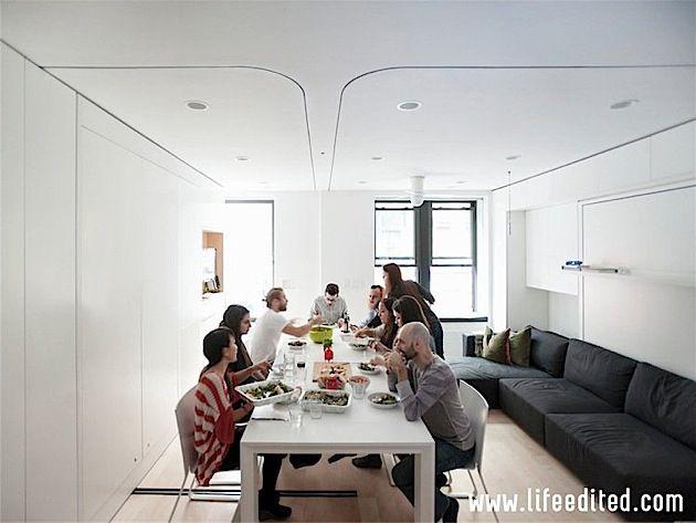 Transformierbare Mini-Wohnung in New York City Jeder, der schonmal
