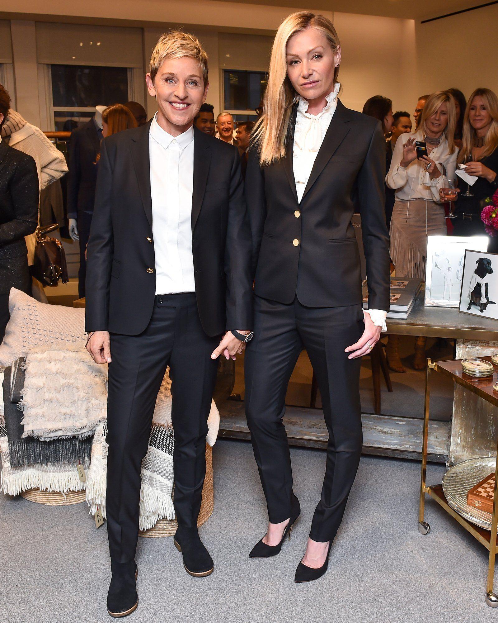 Portia De Rossi Wedding Gown: Ellen DeGeneres ED By Ellen Launch At Bergdorf Goodman