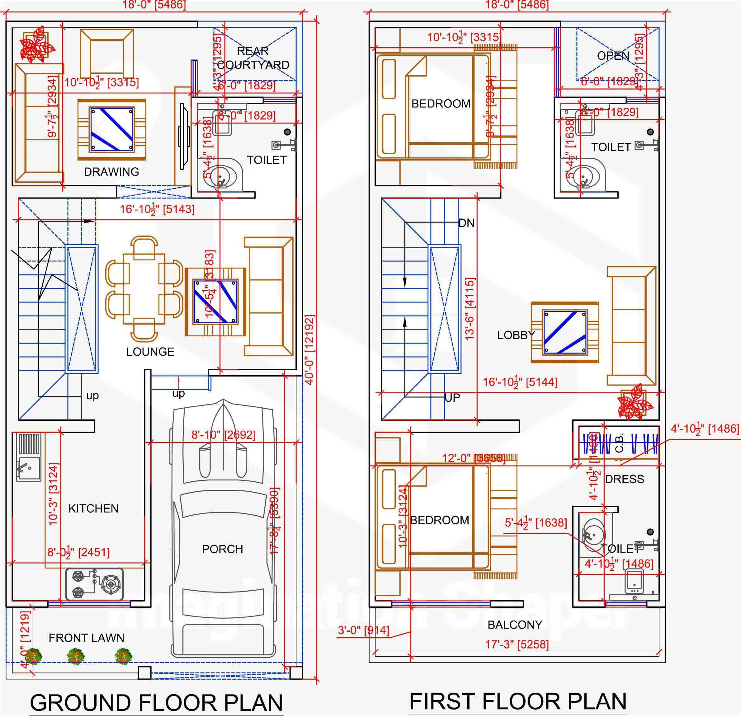 18x40 House Plan House Map Indian House Plans My House Plans