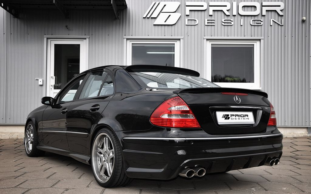 Mercedes e class w211 full body kit rear bumper e55 e63 for Mercedes benz e class e63 amg