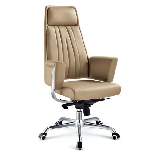factory direct sale swivel brown leather office chair / reclining