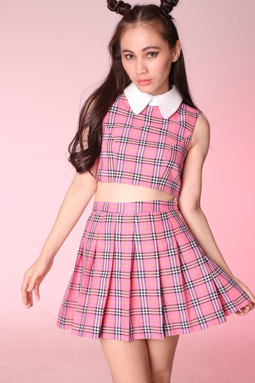 Clueless Inspired Tartan Outfits   mini skirt   Pinterest