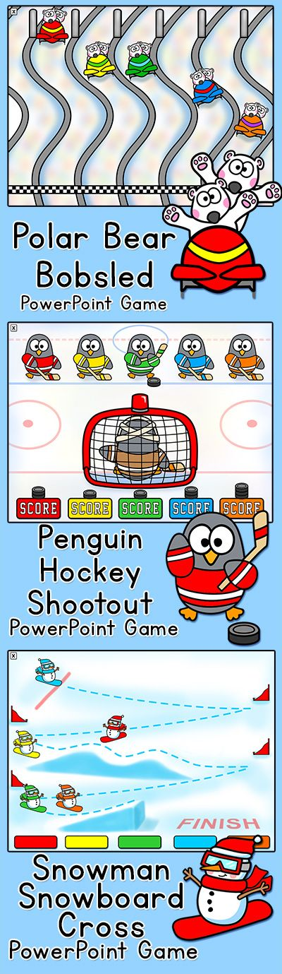 Winter Activities Games for January Winter Sports