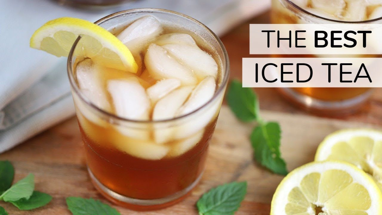 The Best Iced Tea How To Make Cold Brew Iced Tea Youtube