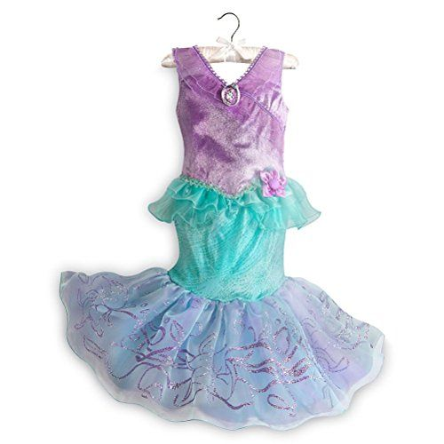 Disney Store Princess Little Mermaid Ariel Little Girl Costume Size 5/6 * Click image for more details.