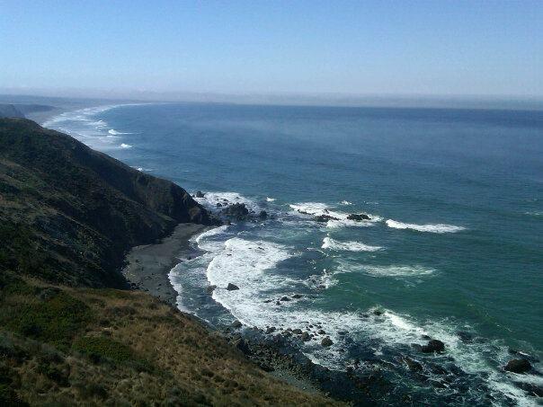 California Coast In Irish Beach