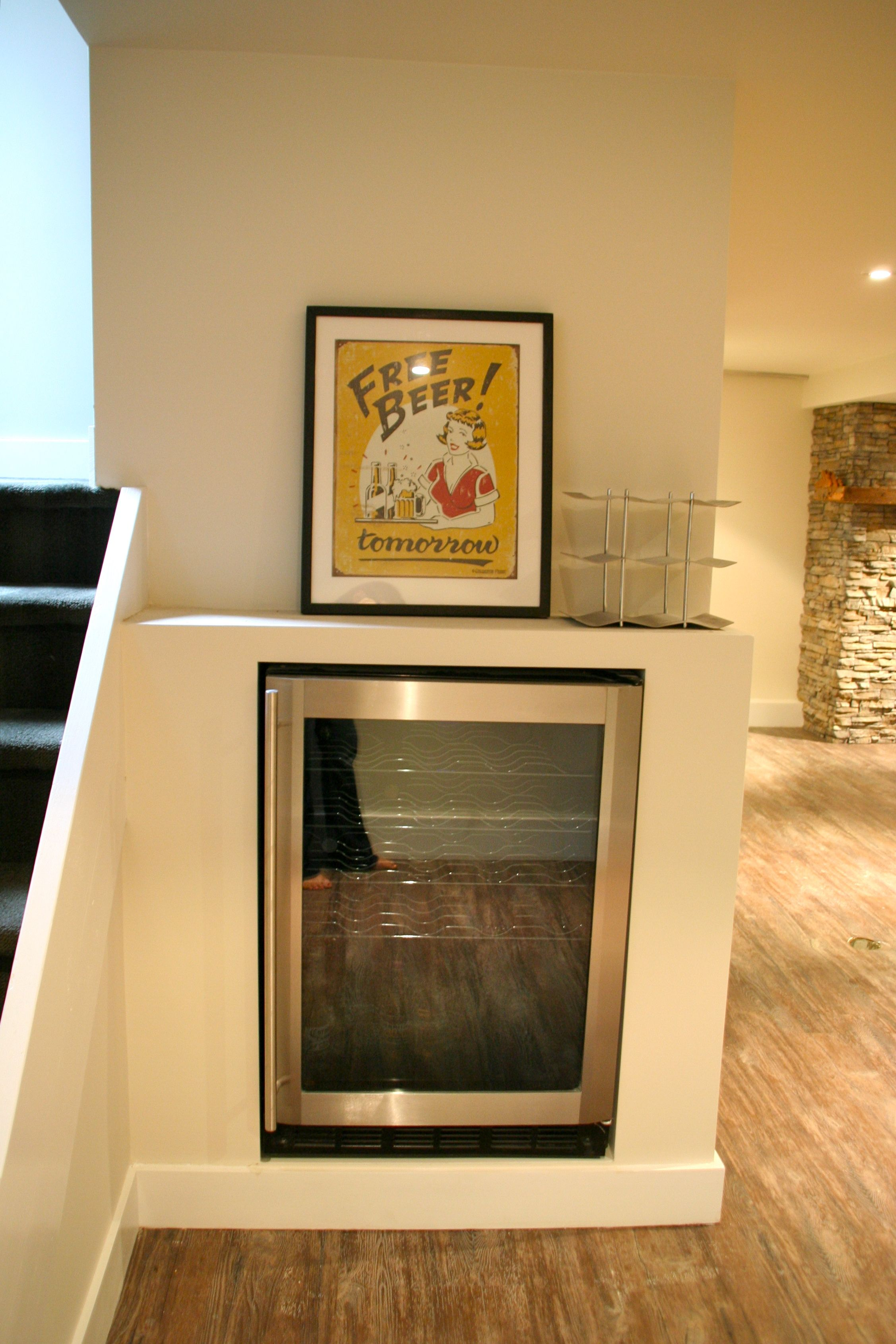 basement - built in wine fridge or other under the stairs? | Attic ...