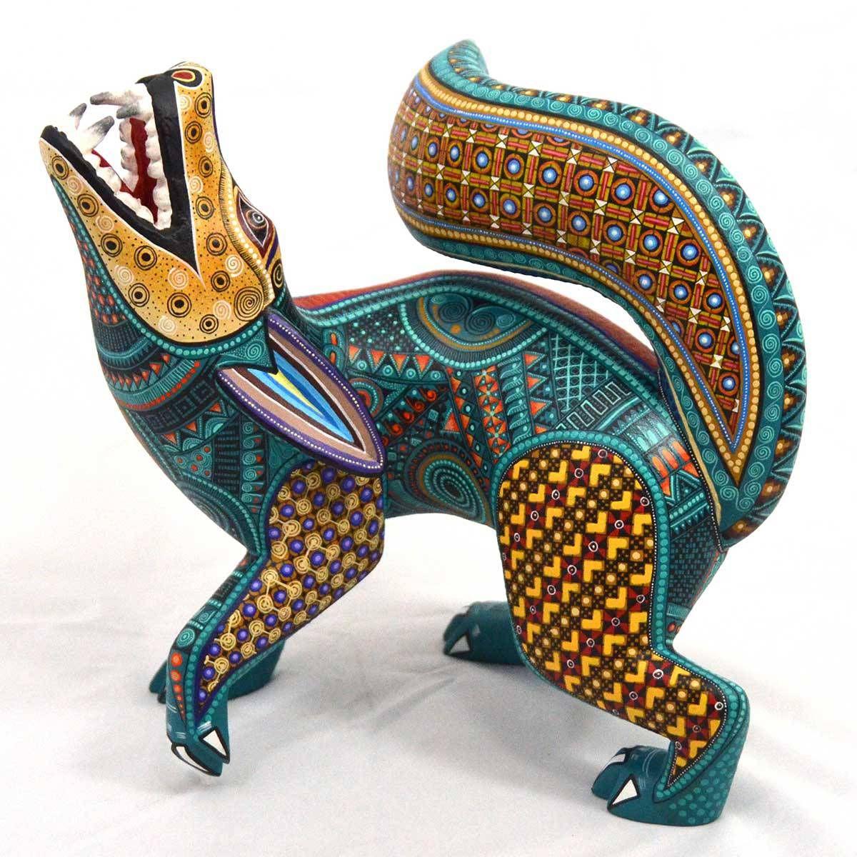 Dog woodcarving by manuel cruz oaxaca mexico clay pinterest