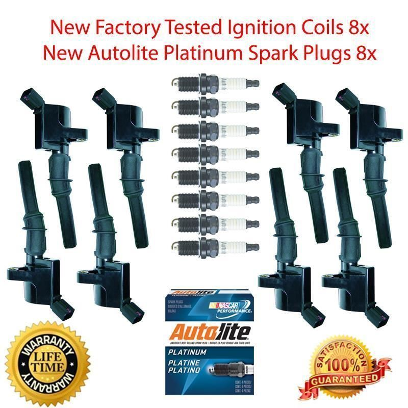 ignition coil spark plug kit for 2002 Ford Expedition 5.4L 8+8 plat