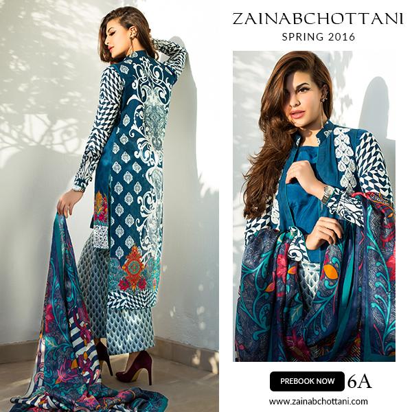 Zainab Chottani lawn Dresses 2016 Feat. Jacqueline Fernandez