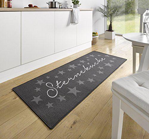 Küchenteppich Küchenläufer Coffee waschbar grau