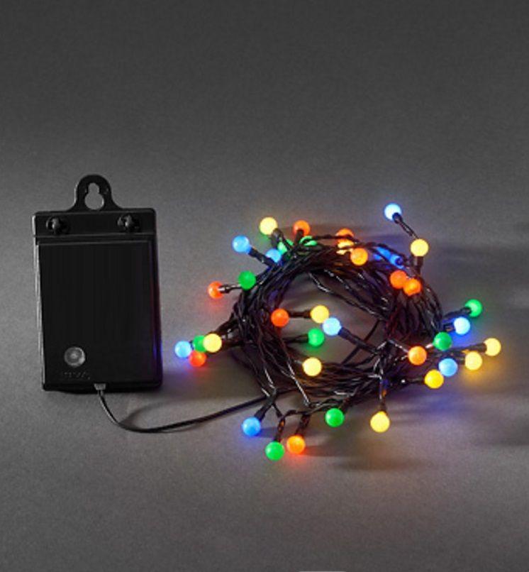 Gekleurde Kerstverlichting Op Batterij Met Lichtsensor En Timer