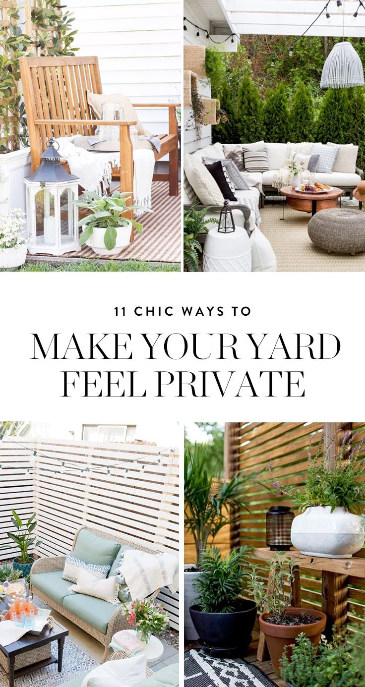 11 Chic Ways to Make Your Yard More Private | Gardening & Outdoors ...